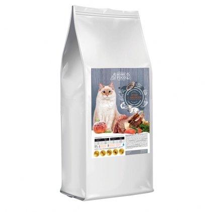 Home Food с ягненком, лососем и печеным яблоком – сухой корм для взрослых котов с чувствительным пищеварением