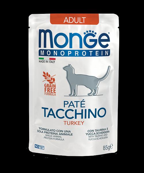 Monge Monoprotein Turkey - консерви з індичкою для дорослих котів