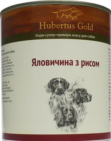 HUBERTUS GOLD влажный корм с говядиной и рисом для взрослых собак