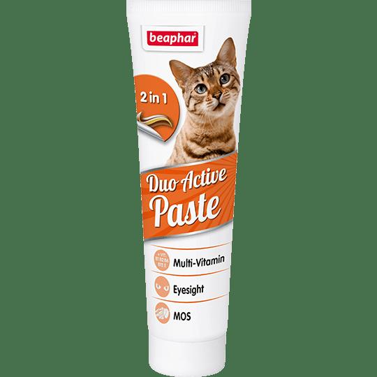 Beaphar Duo Active Paste – мультивитаминная двухцветная паста для котов