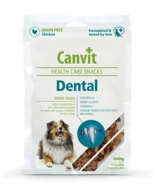 CANVIT Dental – полувлажные лакомства для взрослых собак для ухода за зубами