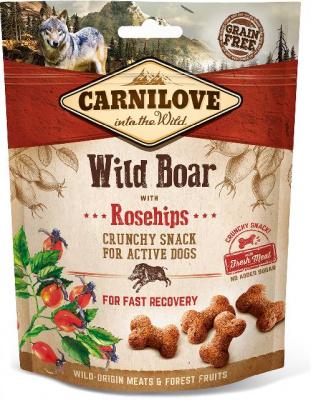 Carnilove Dog Crunchy Snack лакомства с диким кабаном и шиповником для собак