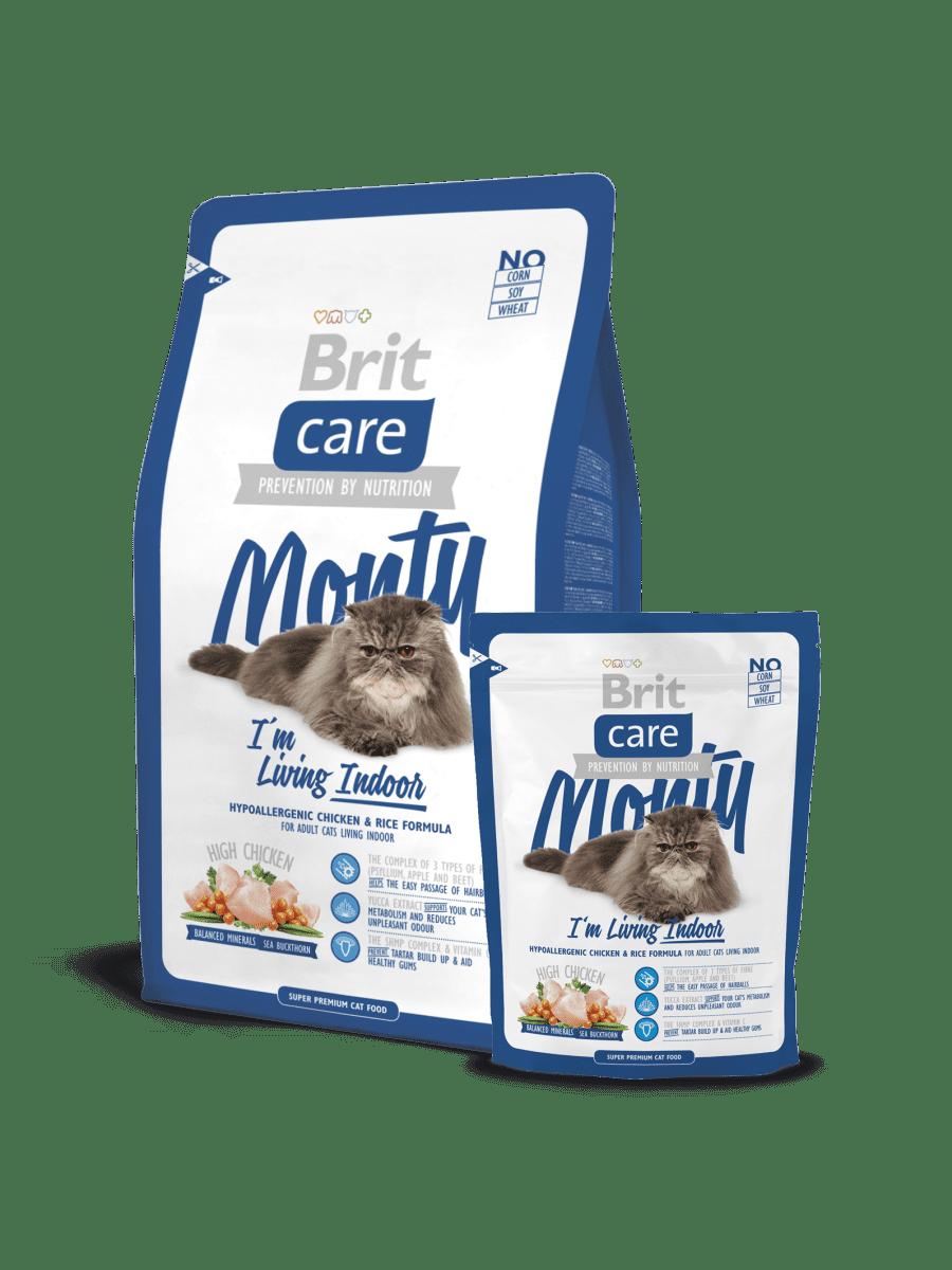 BRIT CARE CAT MONTY I'M LIVING INDOOR – сухий корм для дорослих котів, які мешкають у приміщенні