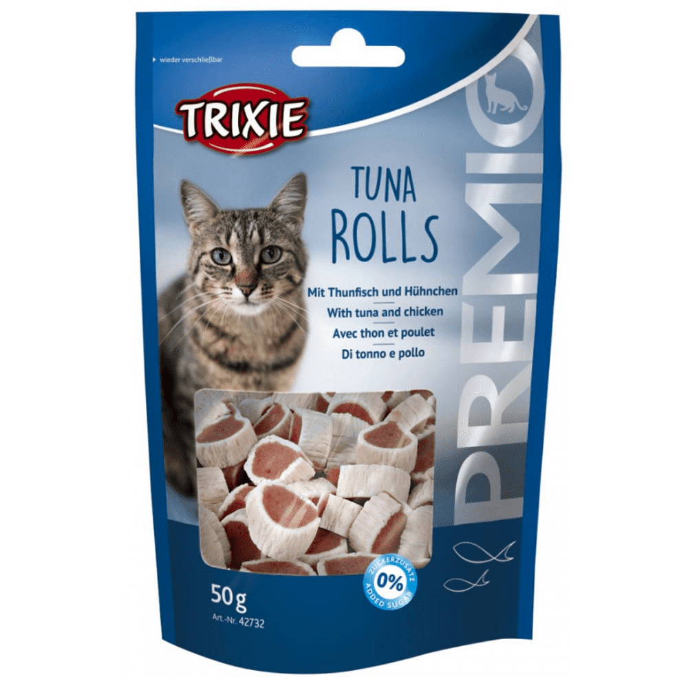 Trixie Premio Tuna Rolls – лакомство для котов с тунцом и птицей