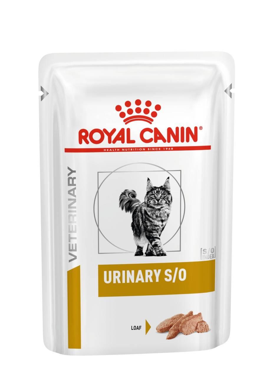 ROYAL CANIN URINARY S/O wet in loaf– лечебный влажный корм, паштет, для взрослых котов при заболеваниях нижних мочевыводящих путей
