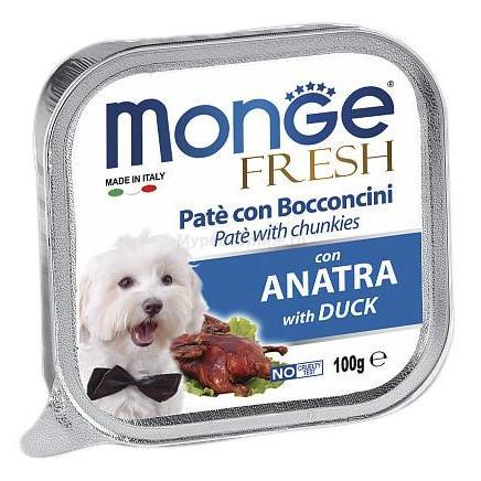 Monge Fresh Duck – консервы с уткой для собак