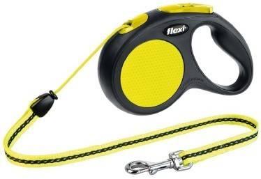 Flexi Neon New Classic M – рулетка с светоотражающим тросом для собак средних пород