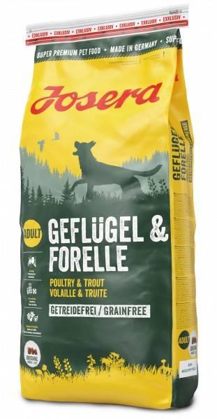 JOSERA GEFLÜGEL & FORELLE – сухий корм для дорослих собак всіх порід з чутливим травленням