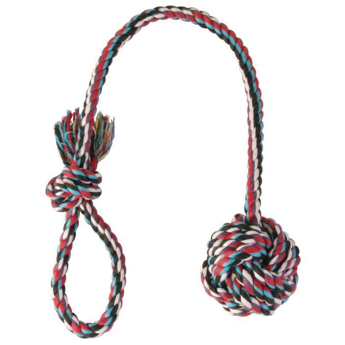 Trixie ігровий канат в вигляді мотузяного м'яча