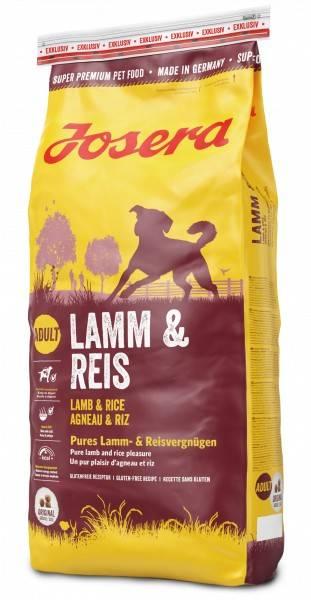 JOSERA LAMB & RICE – сухий корм з ягням та рисом для дорослих собак
