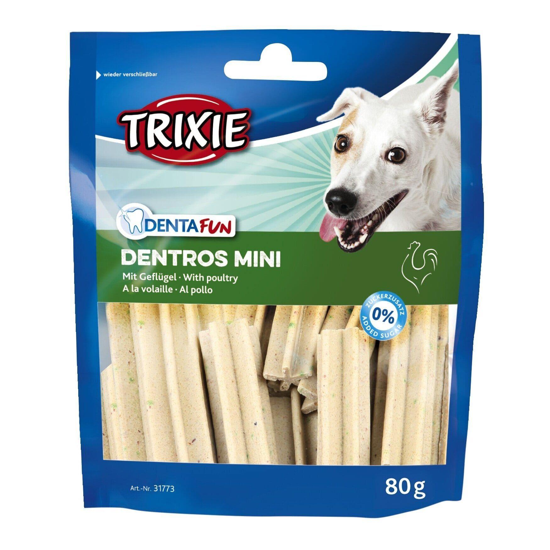 Trixie Dentros Mini лакомство для собак с мясом птицы для очищения зубов от налета