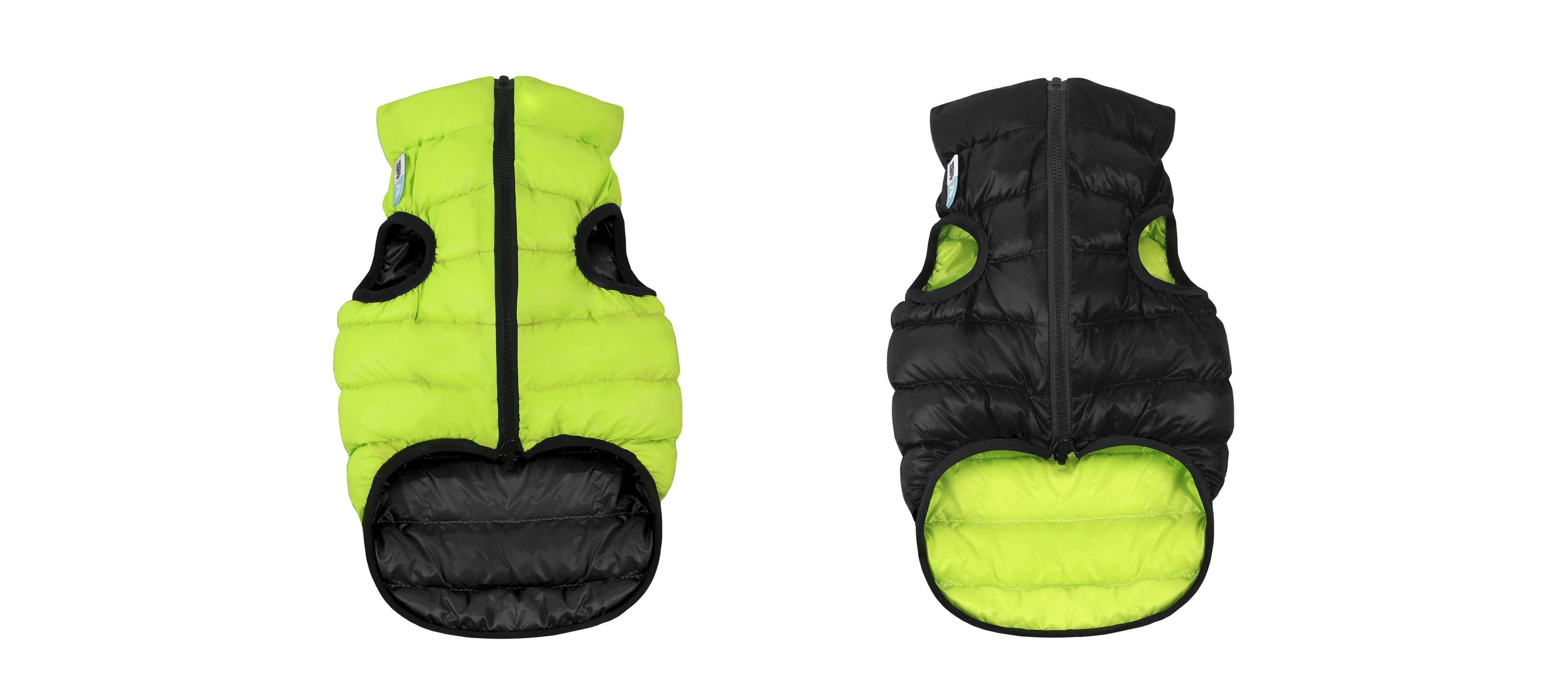 AiryVest – двухсторонняя куртка для собак, салатово-черная