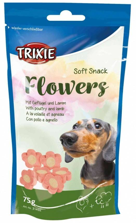 Trixie Flowers – лакомство со вкусом ягненка и птицы для собак малых пород и для щенков