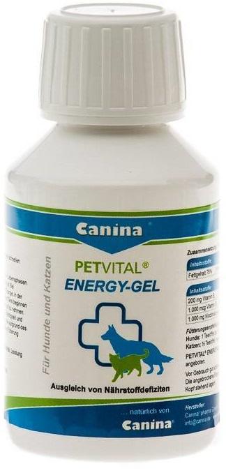 Canina Petvital Energy Gel – високоенергетичний гель з  олією енотери для відновлення котів і собак