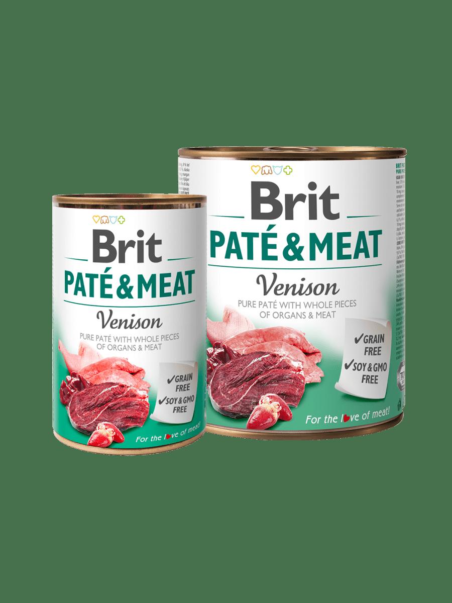 BRIT PATÉ & MEAT VENISON – влажный корм с олениной для взрослых собак