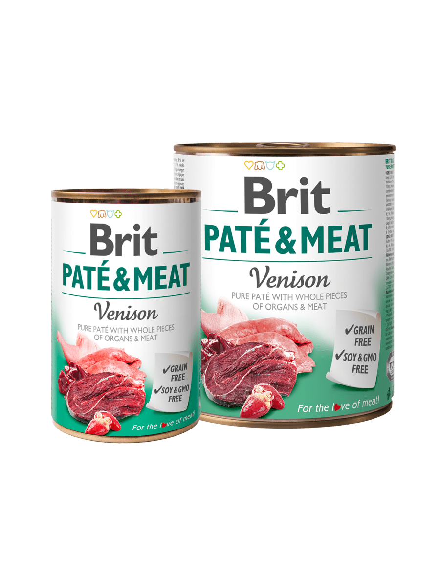 BRIT PATÉ & MEAT VENISON – вологий корм з олениною для дорослих собак