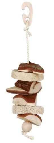 Trixie деревянная игрушка с люфой для попугаев