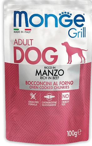 Monge Grill with Beef – консервы с говядиной для собак