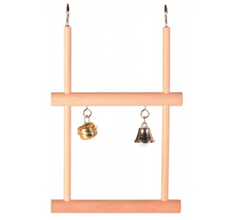 Trixie подвійна дерев'яна гойдалка зі дзвіночками для птахів