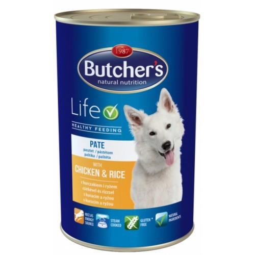 Butcher's Dog Life консерви з курятиною та рисом для дорослих собак