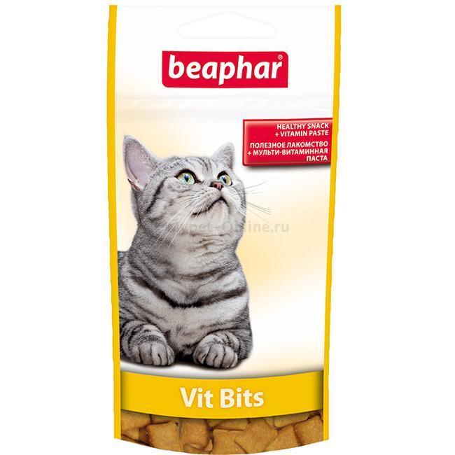 Beaphar Vit Bits – подушечки з мультивітамінною пастою для котів