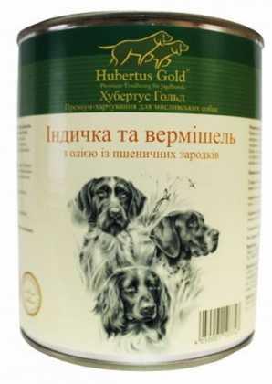 HUBERTUS GOLD влажный корм с индейкой и вермишелью для взрослых собак