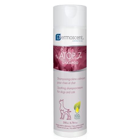 Dermoscent ATOP 7 Shampoo – заспокійливий шампунь для собак і кішок із роздратованою, сухий або схильної до алергії шкірою