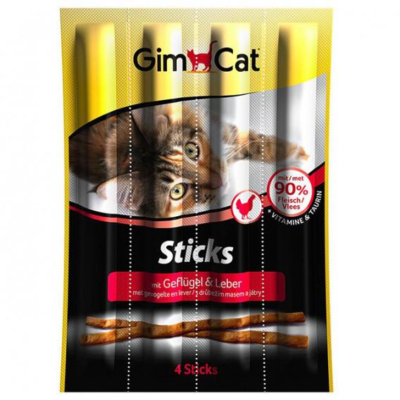 GimCat Sticks Poultry – палички зі свійською птицею для котів