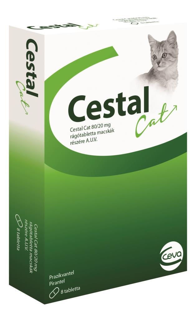 Cestal Cat – противогельминтные таблетки со вкусом печени для котов