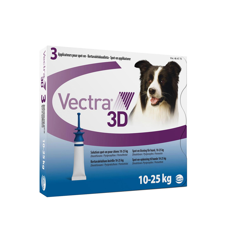 Vectra 3D капли от блох и клещей для собак весом от 10 кг до 25 кг