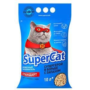 SUPERCAT наполнитель на хвойной основе для кошачьего туалета
