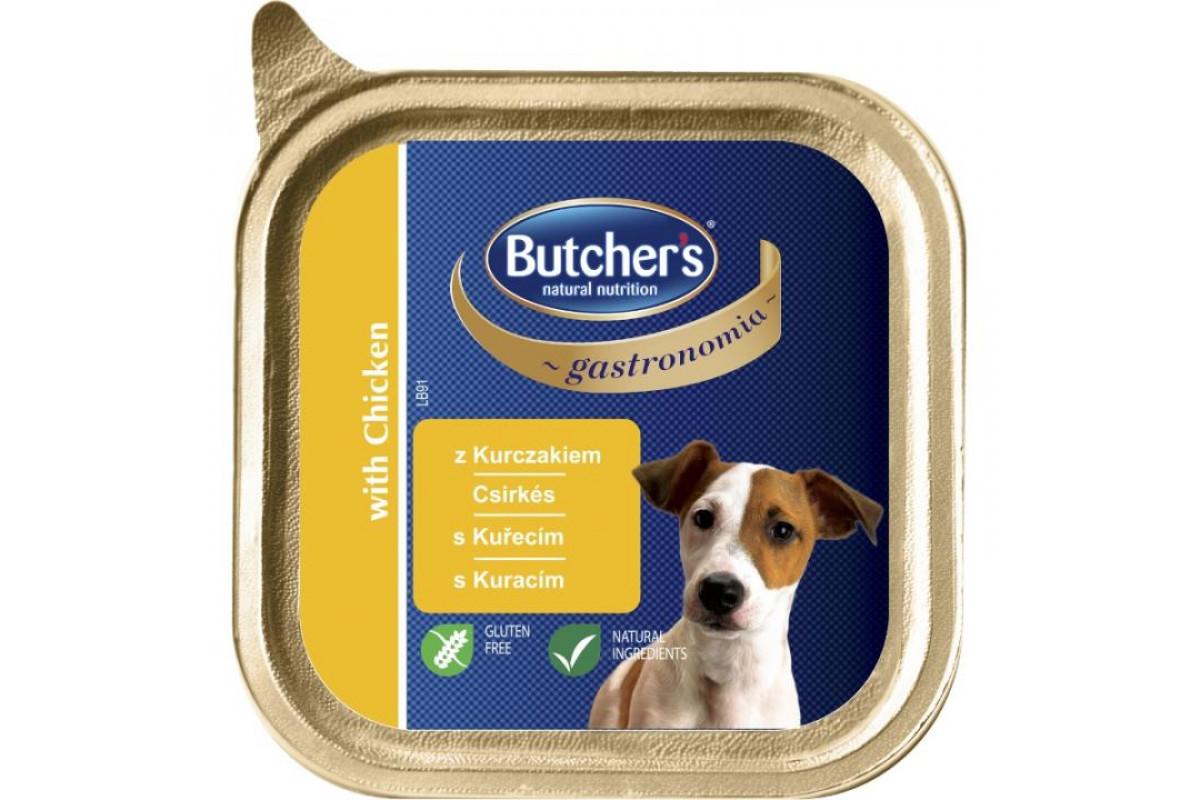 Butcher's Gastronomia влажный корм-паштет для собак с курицей