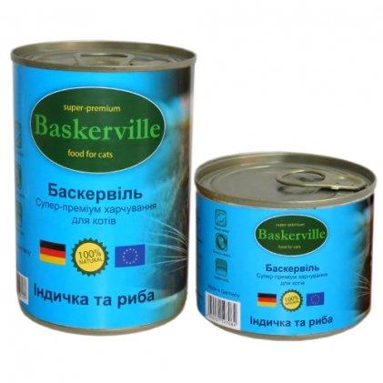 Baskerville консерва с индейкой и рыбой для взрослых котов