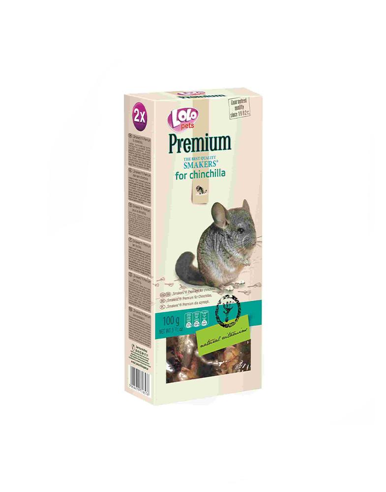 LoLo Pets Smakers Premium - ласощі для шиншил з овочами, фруктами і травами