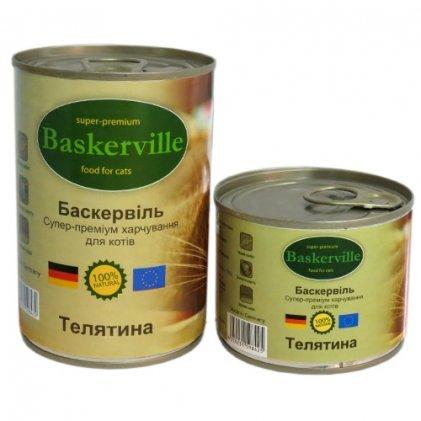 Baskerville Влажный корм для кошек с телятиной
