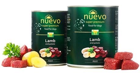 Nuevo Adult Lamb & Potato – консерви з ягням і картоплею для дорослих собак