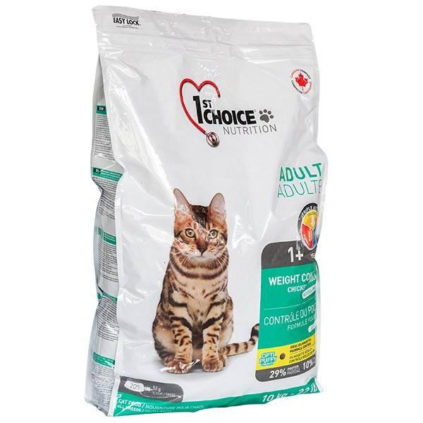 1ST CHOICE WEIGHT CONTROL ADULT – сухой корм для взрослых кошек с лишним весом