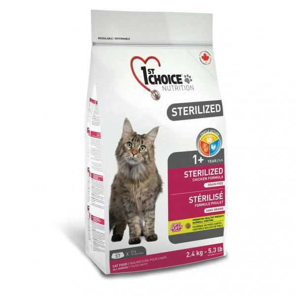 1ST CHOICE STERILIZED CHICKEN – сухой корм с курицей для взрослых стерилизованных котов