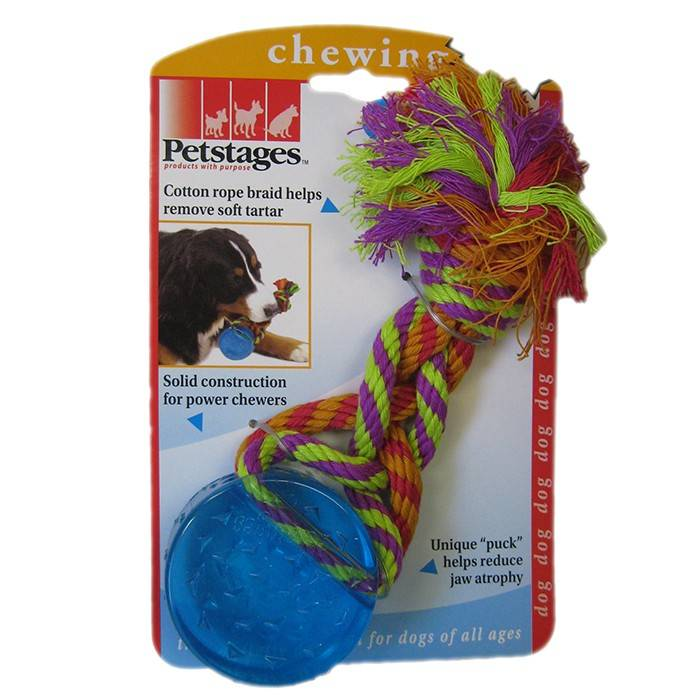 PETSTAGES ORKA PUCK – Орка шайба з канатом для собак