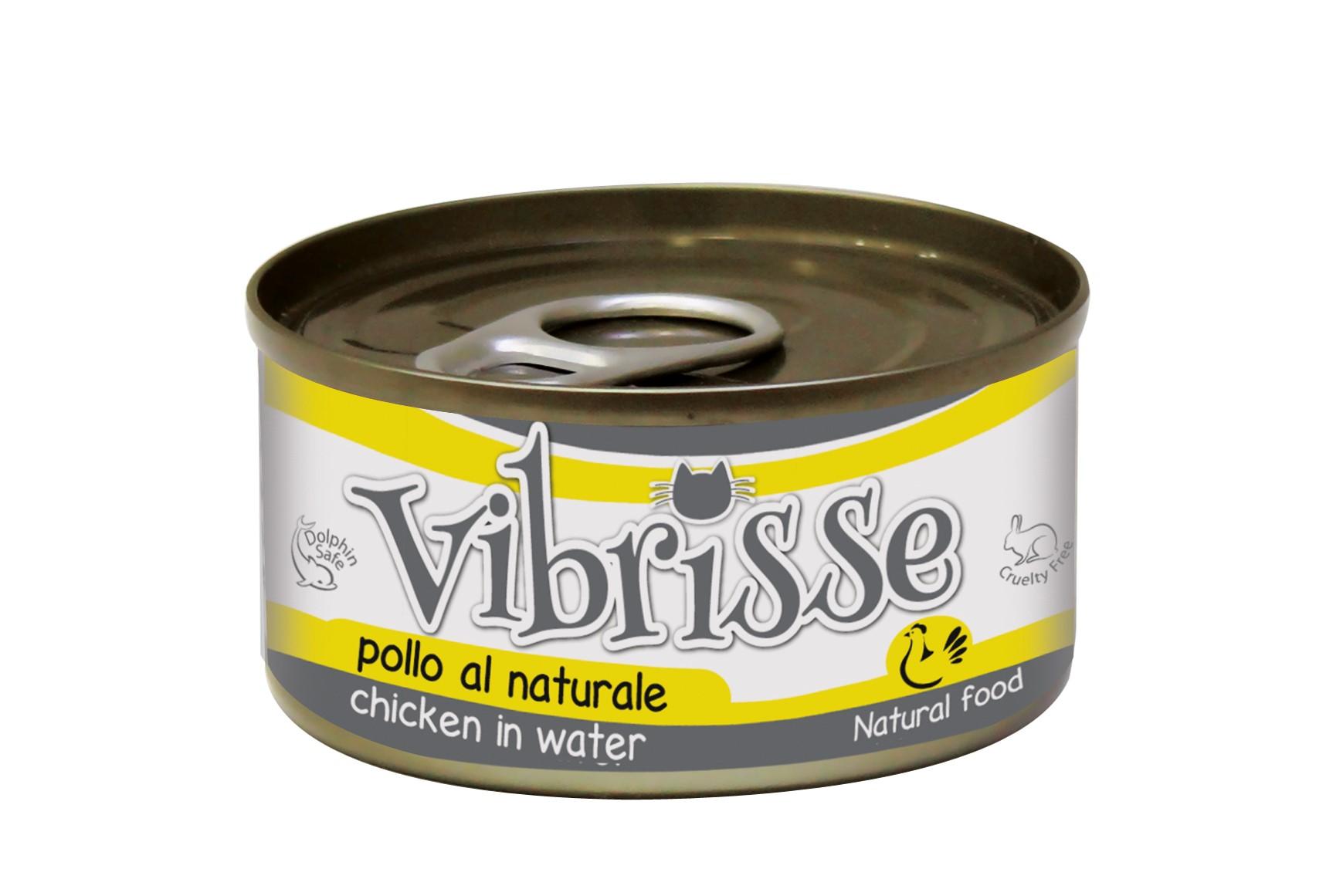 Vibrisse Jelly консервы для взрослых котов, куриное филе в желе