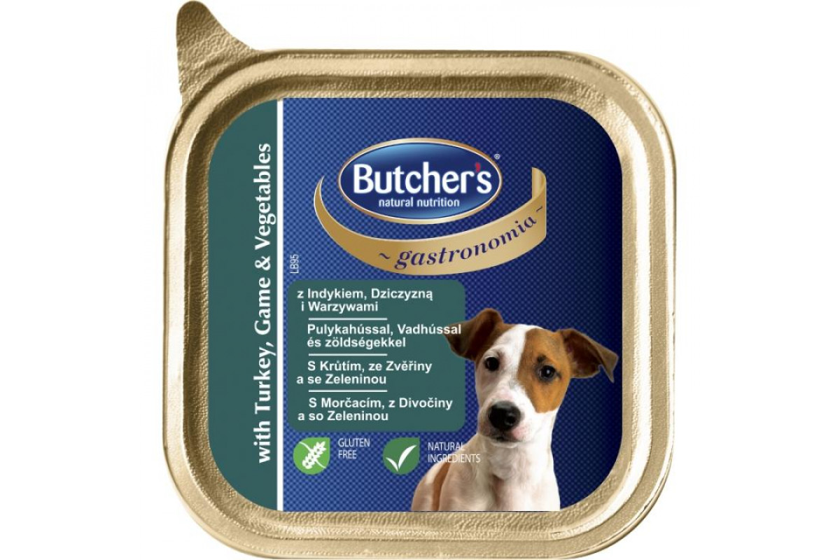 Butcher's Gastronomia влажный корм-паштет для собак с индейкой, олениной и овощами