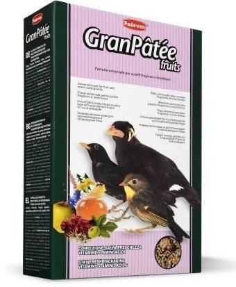 Padovan Granpatee Fruits – корм для насекомоядных и плодоядных птиц