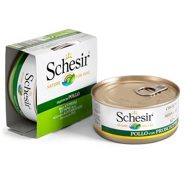 Schesir Chicken Fillet – консервы с курицей для взрослых собак всех пород