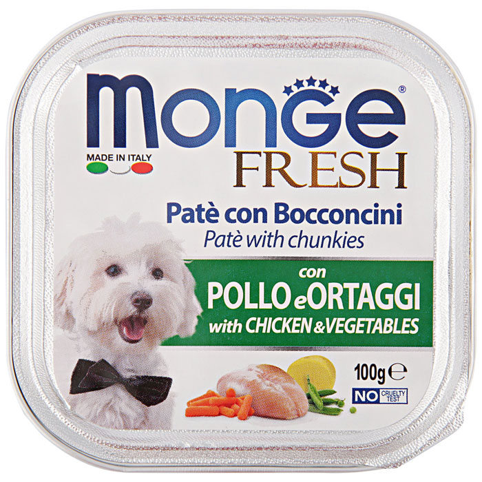 Monge Fresh Chicken and vegetables – консерви з куркою і овочами для собак