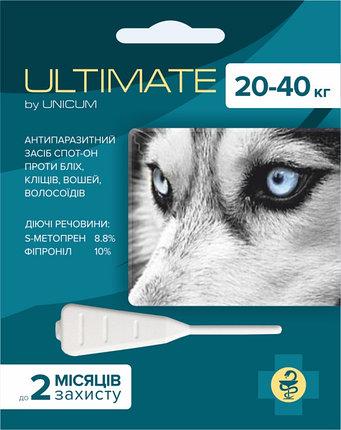 ULTIMATE  капли от блох, клещей, вшей и власоедов для собак весом от 20 кг до 40 кг