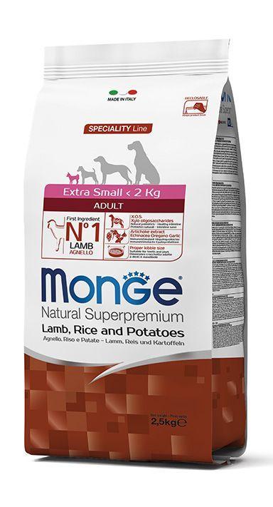 Monge Extra Small Adult Lamb – сухой корм с ягненком для взрослых собак миниатюрных пород