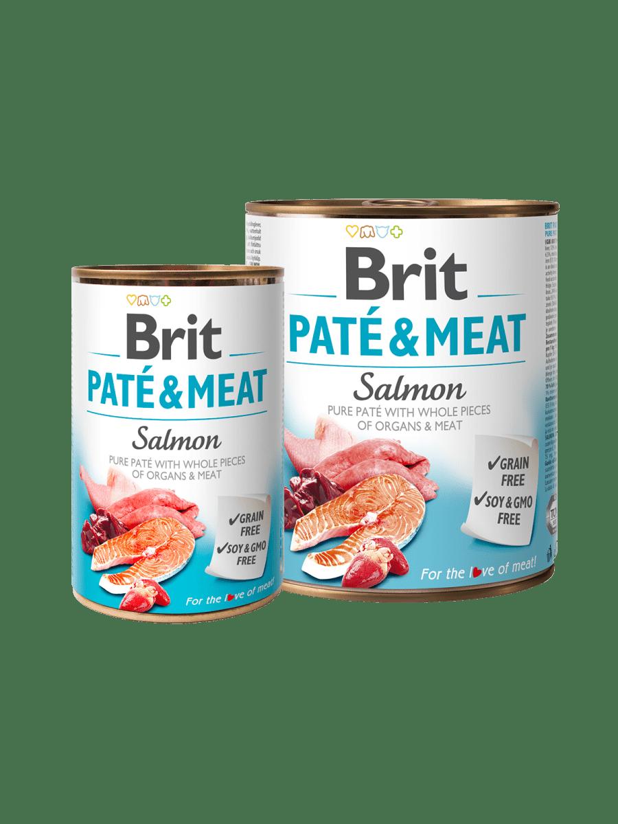 BRIT PATÉ & MEAT SALMON – влажный корм с лососем для взрослых собак