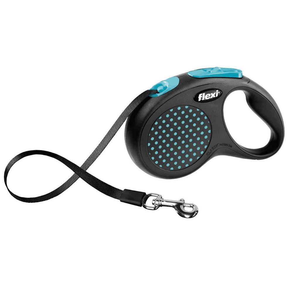 Flexi Design M – повідець-рулетка для собак вагою до 25 кг, стрічка