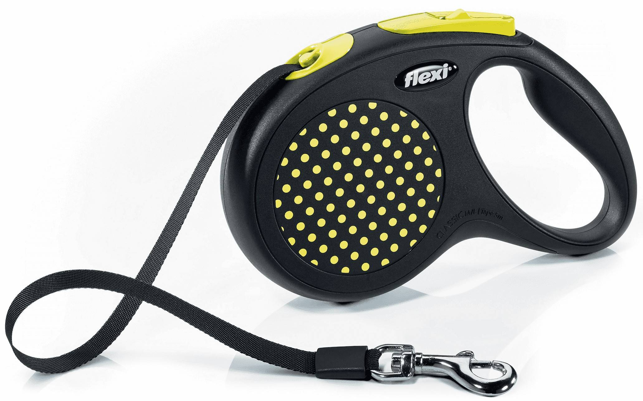Flexi Design M – поводок-рулетка для собак весом до 25 кг, лента