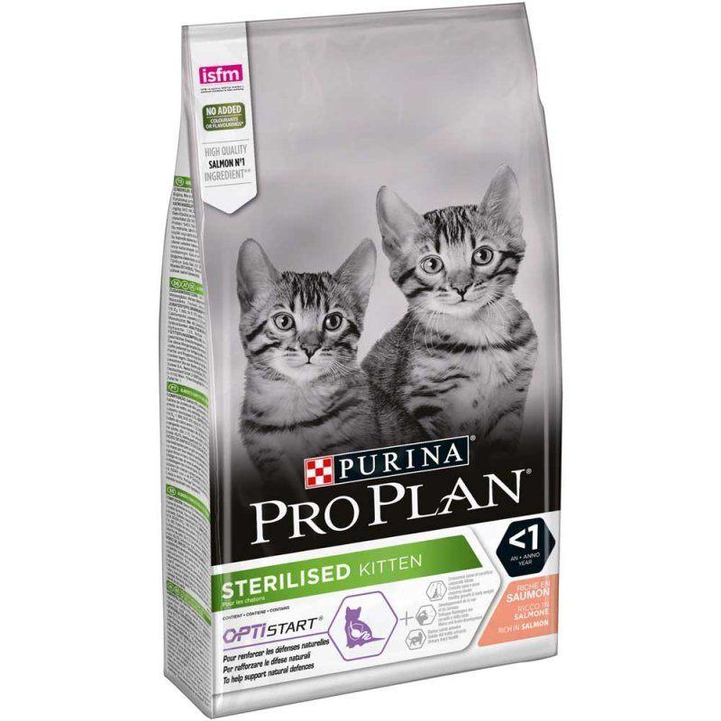 PURINA PRO PLAN STERILISED KITTEN SALMON – cухой корм с лососем для стерилизованных котят
